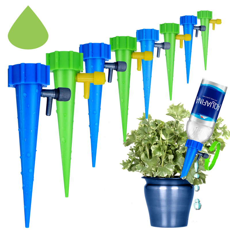 Garden Plant Water Seepage Organ Automatic Drop Valve Adjusttable Flower Self Watering Spikes Stakes Irrigation System