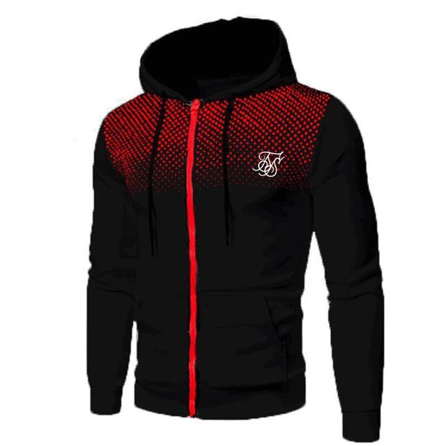Ropa Hompre High Street Brand SikSilk Plus Velvet Print Polka Dot Men's Hoodie Outdoor Street Sports Running Training Sweatshirt 5