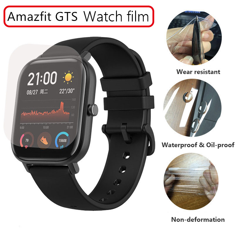 2pcs Soft TPU Watch Protective Film Full Cover For Xiaomi Huami Amazfit Bip GTS GTR 42 /47 Pace Clear Screen Protector Guard