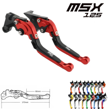 For Honda GROM MSX 125 2014-2018 2015 2016 2017 Motorcycle CNC aluminum Shorty Adjustable Brake Clutch Levers motorcycle brake clutch levers for honda grom msx 125 2014 2015 2016 2017 adjustable folding extendable levers set 125 msx grom