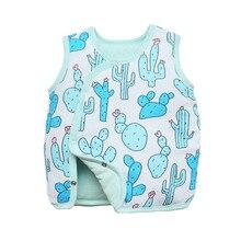 Jacket Vest Baby-Boys-Girls Animal Cotton Unisex Outwear Tortoise Frog Cactus-Print Deer
