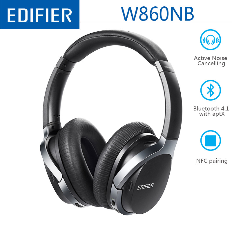 EDIFIER W860NB Bluetooth Earphone Active Noise Canceling ANC Bluetooth 4.1 Touch Control Double Mic Support AptX For Xiaomi IOS
