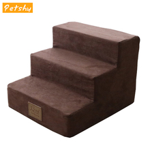 Petshy Dog House Small Dog Cat Stairs Pad Puppy Ramp Ladder Removable Anti-slip Pet Bed Sofa Stairs Cat Kennel Pet Supplies