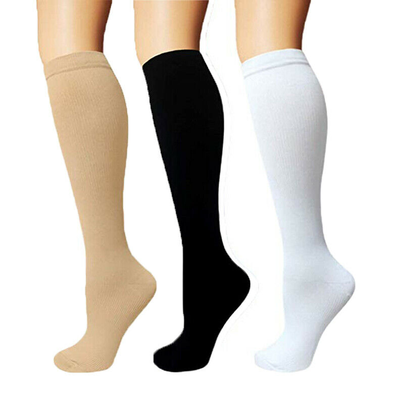 Unisex Copper Compression Socks Women Men Anti Fatigue Pain Relief Knee High Stockings