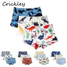 3Pcs/Lot Children Underpants Cartoon Dinosaur Shark Robot Print Underwear for Boys Boxer Cotton Briefs High Quality Panties