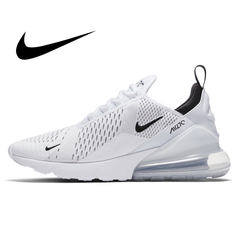 Original Authentic Nike Air Max 270 Men's Running Shoes Mesh Breathable Cozy Outdoor Athletic Designer Footwear New AH8050-100