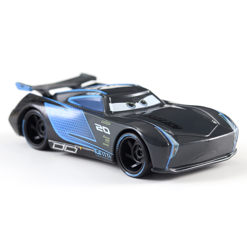 Disney Pixar Cars 2 et 3 véhicules en métal noir pour garçons et enfants, voitures Lightning McQueen, Mater, Jackson, Storm, Ramirez, échelle 155, Diecast, cadeau cadeau