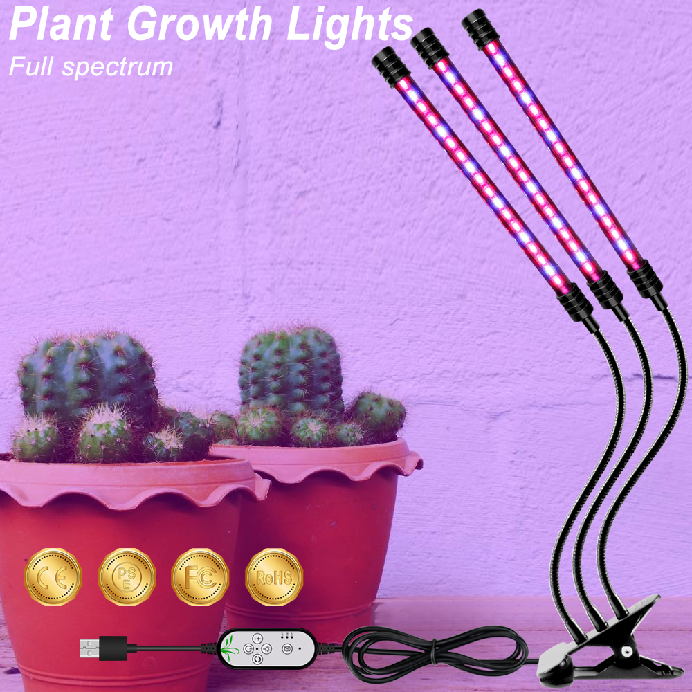 LED Grow Light USB 5V LED Indoor Lighting Full Spectrum LED Lamp For Indoor Vegetable Flower Plant Tent Box Grow Tent Hydroponic