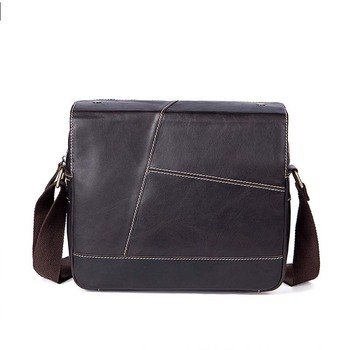 2019 New Men's Fashion Genuine Cow Leather Dark Brown Business Briefcases Shoulder Bag Special Design Laptop Handbag