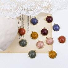 hot sale jewellery retro temperament alloy bottom smudge resin beads pendant vintage drop earrings for women diy accessories