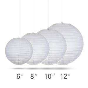 Image 3 - 30pcs/Lot Mix Size (15cm,20cm,25cm,30cm) White Paper Lanterns Chinese Paper Ball Lampion For Wedding Party Holiday Decoration