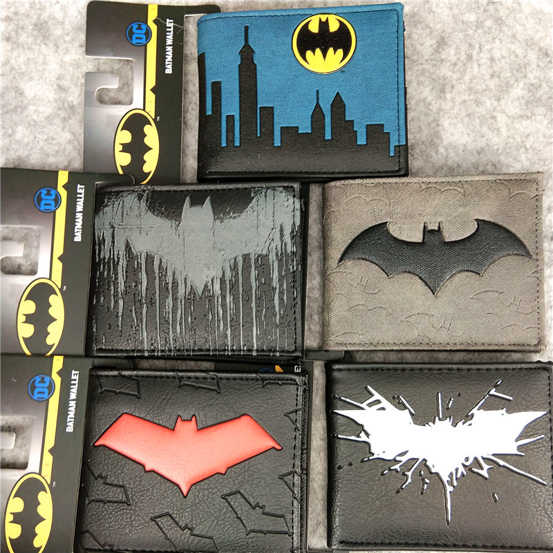 Batman Comics Men Leather Wallets Batman PVC Card Holder Top Brand Dollar Bags Casual Purse Male Female Gift Wallet