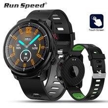 Smartwatch l3 touch unissex, relógio inteligente, monitor de atividades esportivas, monitor cardíaco, monitora múltiplos esportes, para ios android, android