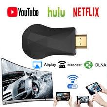 Pantalla WiFi HDMI Dongle YouTube, Netflix AirPlay Miracast TV Stick Google Chromecast 2 3 cromo fundido Cromecast 2