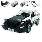 Technic Creator MOC RC Auto Initial D Toyota AE86 Cartoon Motor Power Funktion Bausteine Ziegel DIY Kits Spielzeug Für kinder