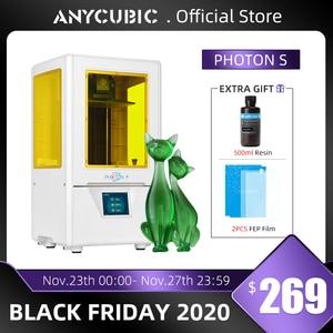 Image 1 - Anycubique photon s imprimante 3D double axe Z tranche rapide 405nm matrice UV Module SLA 3d imprimante résine Photon S améliorée Impresora 3d