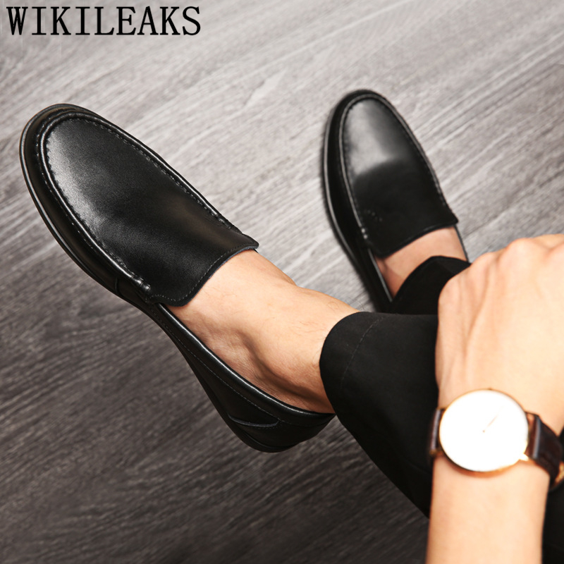 fashion black driving shoes loafers