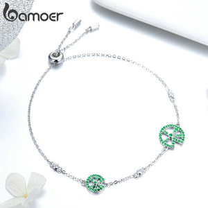 Image 3 - bamoer Funny Lotus Leaf Bracelet for Women Exquisite Design Sterling Silver 925 Jewelry Engagement Jewelry Gifts BSB006