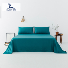 Liv-Esthete New 100% Mulberry Silk Lake Blue Flat Sheet Luxury Silky Bed Linen Healthy Skin Pillowcase Queen King For Women Men сабо carmela сабо