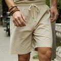 Мужские льняные шорты большого размера плюс 6XL 7XL 8XL 9XL 10XL, повседневные льняные бермуды с эластичной талией, мужская пляжная льняная одежда, ...
