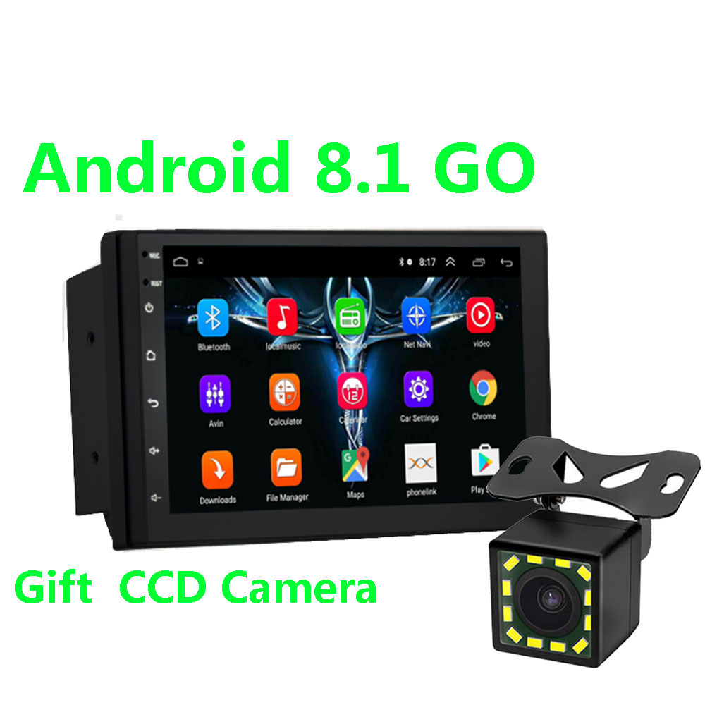 2 Din Android 8.1 Car Multimedia Video Player Universal auto radio Stereo GPS MAP for Volkswagen Nissan Hyundai Kia toyota CR-V image