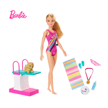 Barbie Fun Diving Combination Dreamhouse Adventures Swimming Diving Doll Fashion Children's Toy Christmas Gift GHK23 outdoor swimming diving regulator bracket tool mounting pressure protable diving equiment hose hook breathing spare accessories