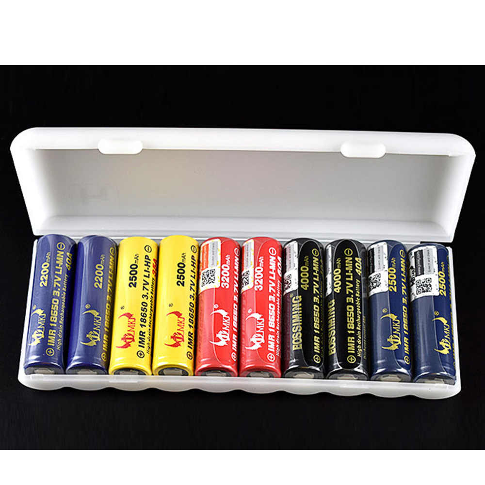 1PC Transparent 10X18650 Battery Holder Case Organizer Container 18650 Storage Box Holder Hard Case Cover Battery Holder