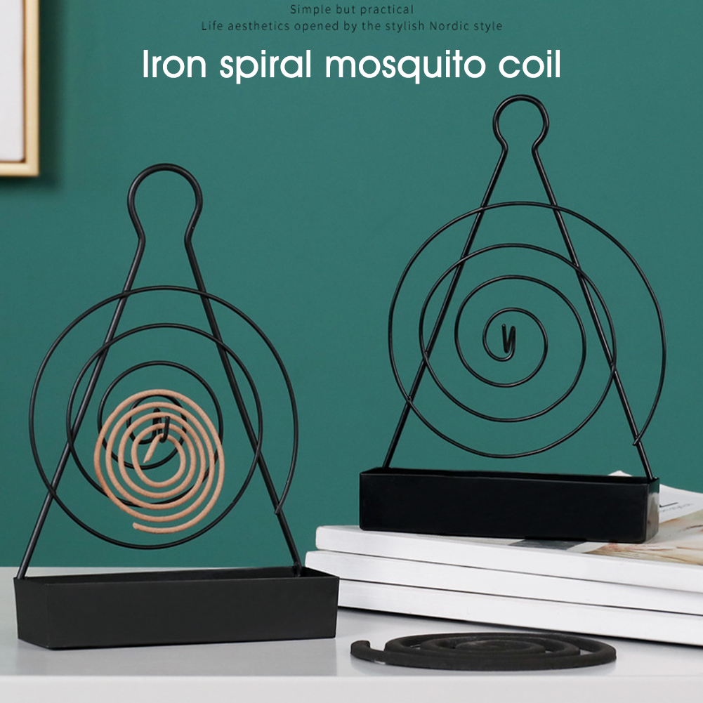 Summer Garden Heat Resistant With Handle Mosquito Coil Holder Burner Incense Spiral Home Decoration Anti Slip Retro Iron Art(China)