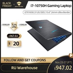 Machenike T90 Gaming laptop Intel Core i7 10750H Laptops GTX1650 4G 8GB RAM 512G SSD 15.6'' 6mm Border IPS Machenike notebook