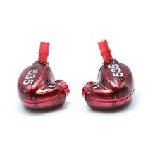 Um par diy reparação habitação escudo capa caso para se535 editio vermelho, artesanal diy personalizado armadura no fone de ouvido
