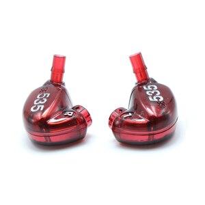 Image 1 - Um par diy reparação habitação escudo capa caso para se535 editio vermelho, artesanal diy personalizado armadura no fone de ouvido