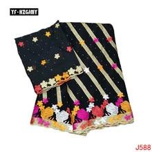 YF HZGJMY Africa Bazin Riche Getzner black high quality embroidery 2019 Nigeria latest design rhinestone brocade jacquard fabric