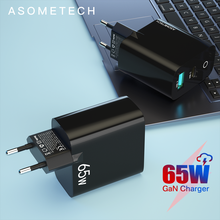 65W GaN Charger Dual Port QC 3.0 PD3.0 Type C PD USB Phone Charger Fast Charger For iPhone Xiaomi Quick Laptop Charger