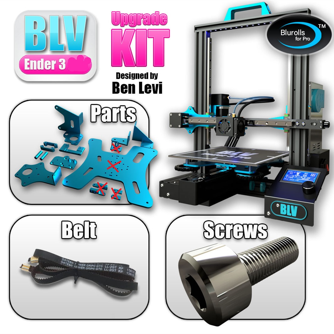 BLV Ender 3 3d Printer Upgrade Kit Including Gates X Belt Screws And Aluminum Plates,genuine Hiwin Linear Rail Optional