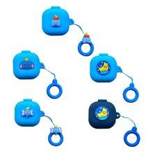Синий милый мультяшный пыленепроницаемый защитный чехол силиконовый