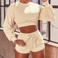 Lange Mouwen Vrouwen Yoga Set Fitness Hoge Taille Shorts Pak Sportwear Workout Trainingspak Gym Running Kleding