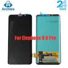 Pour 100% Original Elephone U Pro AMOLED LCD affichage + écran tactile numériseur assemblée pièces de rechange 5.99 pouce 18:9 Stock