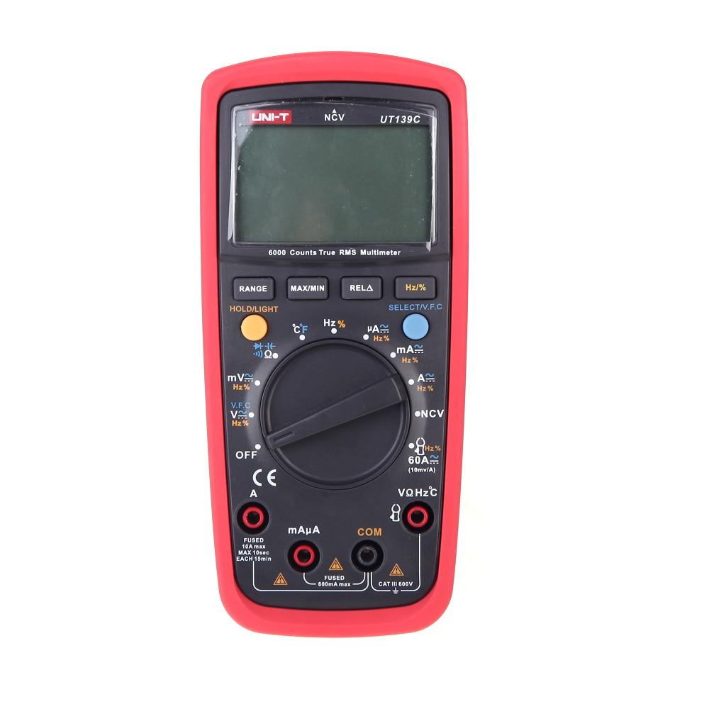 LCD Multimètre Numérique AC//DC Auto Gamme Testeur Mètre de poche UT139C UNI-T
