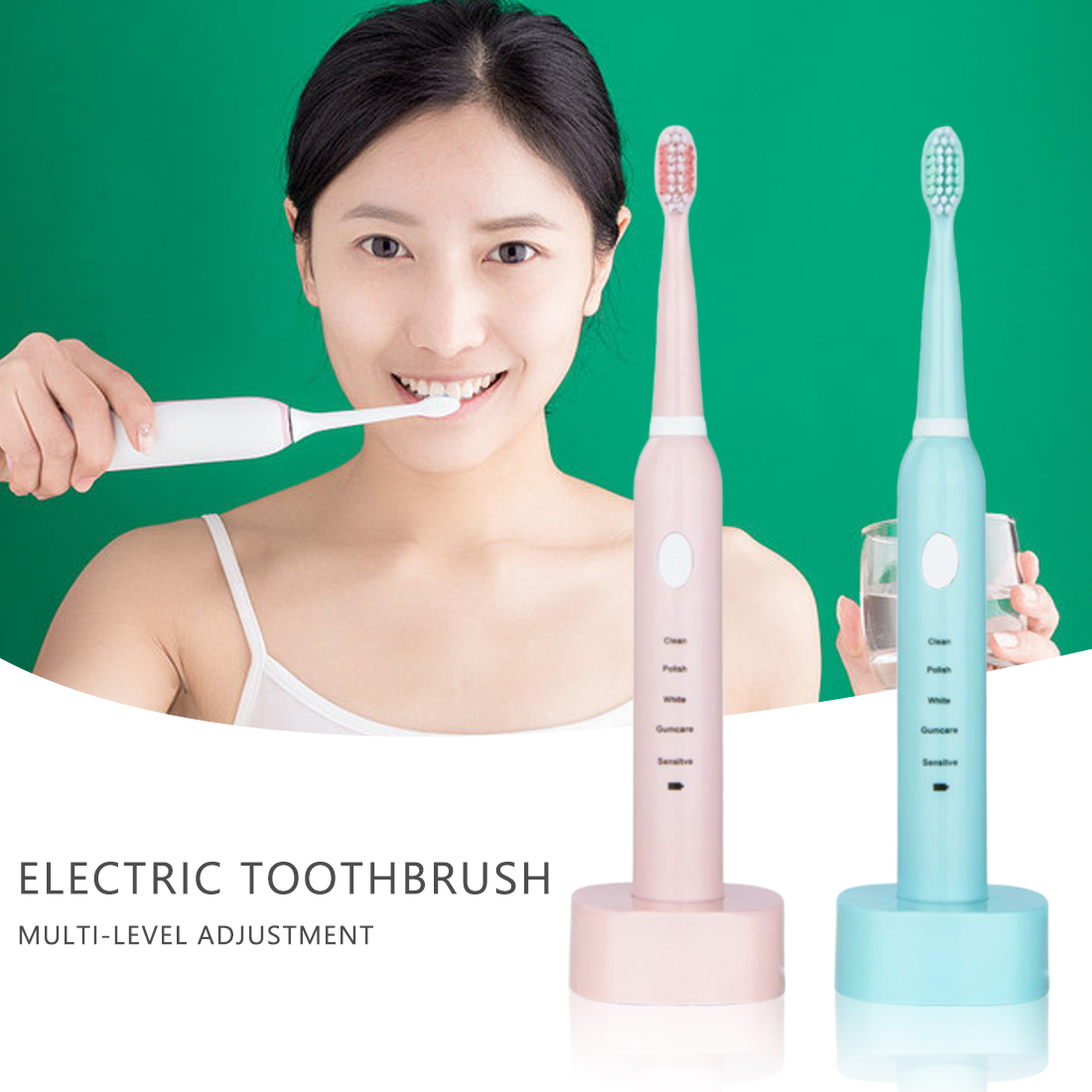 Powerful Ultrasonic  Electric Toothbrush USB Charge Rechargeable Tooth Brushes Electronic Washable Whitening Teeth Brush