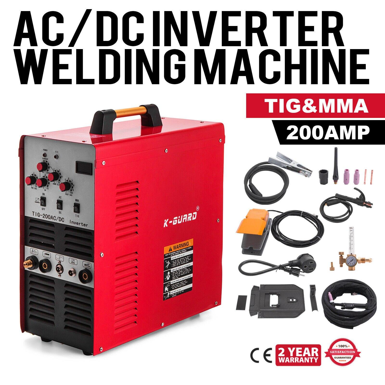 New AC 110V TIG//ARC Welding Machine 200A MMA IGBT DC Inverter Stick Welder Hot