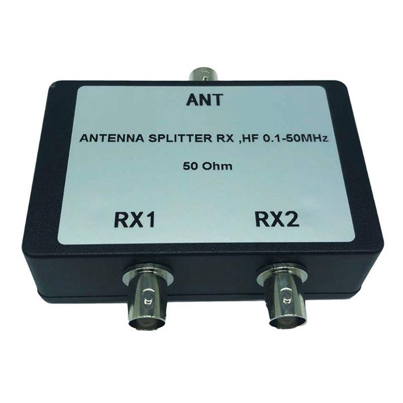Portable Antenna Splitter RX HF 0.1-50 MHz 50Ohm BNC Connectors for TV Satellite