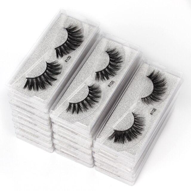 10 pairs faux mink eyelashes bulk wholesale natural long false eyelash extension 3d lashes eye fluffy soft fake cilios makeup 1