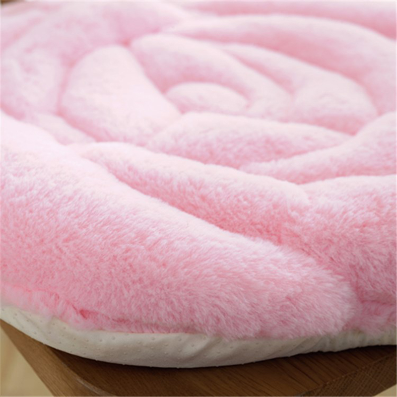 Rose cushion office chair pad autumn and winter tatami plush padded cushion