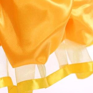 Image 4 - Vestidos bella de la bella y la bestia para niña, disfraz de princesa, disfraces de Cosplay, vestido de Bella de Disney, ropa de fiesta de boda y cumpleaños