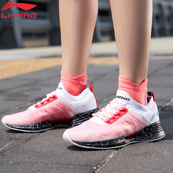 (Break Code)Li-Ning Women CLOUD COOL Cushion Running Shoes Mono Yarn PROBAR LOC LiNing CLOUD Sport Shoes Sneakers ARHP052 1