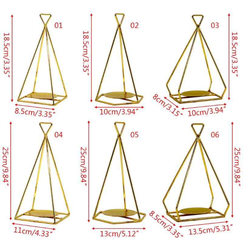 Candelabro geométrico 3D Estilo nórdico Metal candelabro boda fiesta Mesa decoración E65B Impresión geométrica Spandex elástico Slipcovers multifuncional funda de silla Slipcover funda de asiento para Hotel banquete de boda