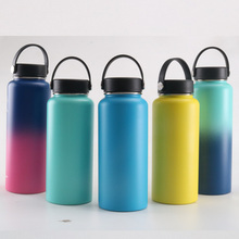 Stainless Steel Thermos bottle Vacuum Insulated Water Bottle Wide Mouth Portable Hot Travel 32 oz / 40