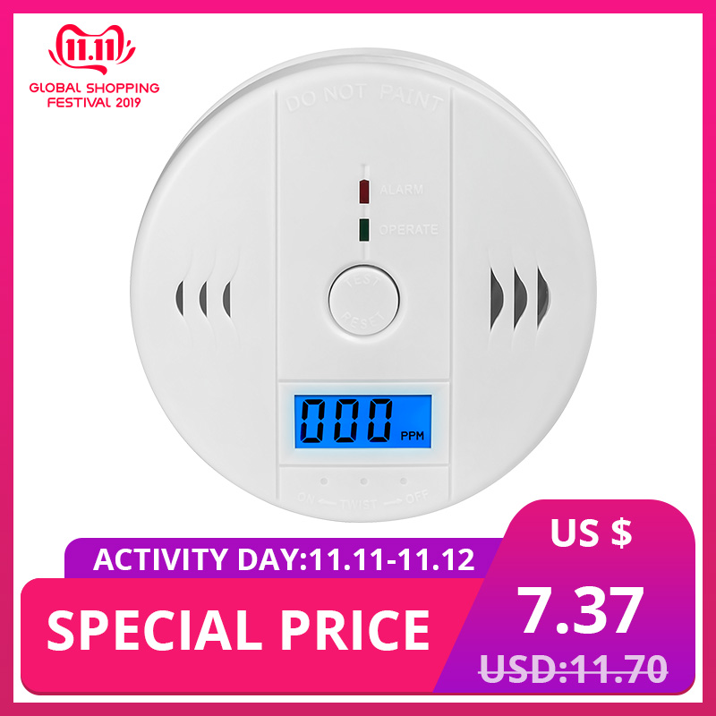 KERUI Home Security Fire CO Gas Sensor Carbon Monoxide Detectors Carbon Monoxide Alarm Work Indenpendently