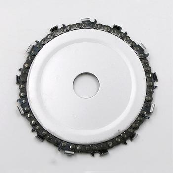 DishyKooker Wood Carving Disc Woodworking Chain Grinder Chain Saws Disc Chain Plate Tool for 115MM Angle Grinding  4.5 inch tool tool lateralus 2 lp picture disc