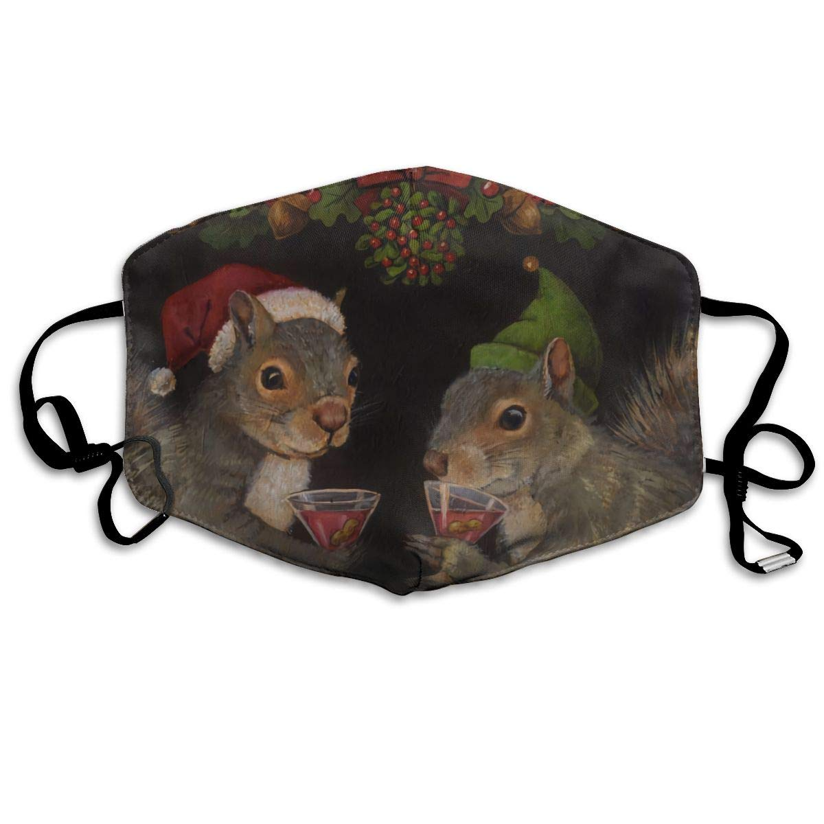 NiYoung Ideal Gift - Women Men Boys Girls Dustproof Christmas Cocktail Squirrels Half Face Mouth Mask Breathable Mouth Muffle
